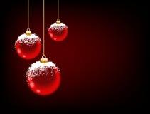 снежок красного цвета черноты шариков предпосылки Стоковые Фото