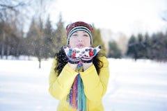 снежок ладоней Стоковое Фото
