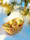 снежок лож новый toys год Стоковая Фотография RF