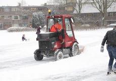 снежок лопаткоулавливателя машины Стоковая Фотография