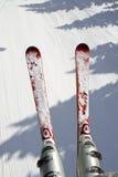 снежок лыжи предпосылки стоковая фотография rf