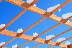 снежок патио крышки Стоковое Фото