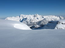 Снежок покрыл горы, Mt Saentis Стоковое фото RF