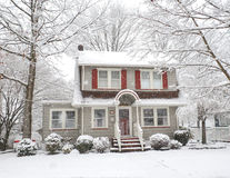 Снежок покрыл дом Стоковое Изображение RF