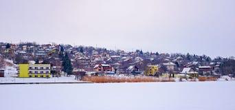 снежок под селом Стоковые Фотографии RF