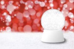 снежок праздника глобуса голубого рождества backg пустой Стоковая Фотография
