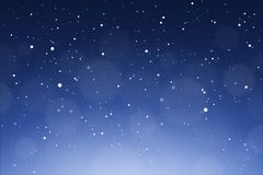 снежок предпосылки падая Зима шла снег иллюстрация вектора неба Стоковая Фотография RF