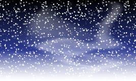 снежок предпосылки падая Ландшафт праздника со снежностями также вектор иллюстрации притяжки corel Небо зимы идя снег 10 eps иллюстрация штока