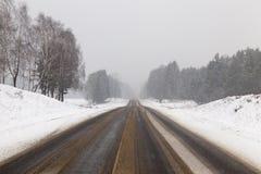 снежок предпосылки трассирует зиму Стоковые Изображения RF