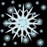 Снежок рамки на предпосылке Стоковое фото RF
