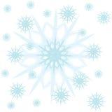 Снежок рамки на предпосылке Стоковая Фотография