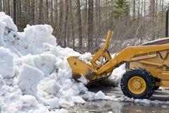 снежок расчистки бульдозера Стоковая Фотография