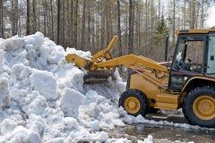 снежок расчистки бульдозера Стоковые Изображения