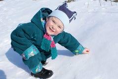 снежок ребенка написал Стоковое фото RF