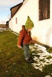 снежок ребенка стоковые фотографии rf