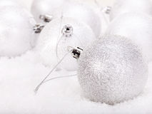 снежок рождества шарика стоковое фото rf