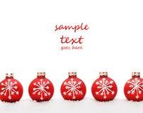 снежок рождества шариков стоковые изображения