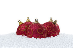снежок рождества шариков Стоковые Фотографии RF