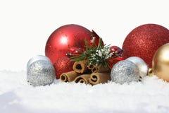 снежок рождества baubles Стоковое Изображение