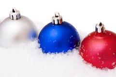 снежок рождества шариков Стоковое фото RF