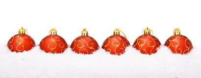 снежок рождества шариков Стоковое Изображение RF