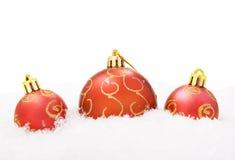 снежок рождества шариков Стоковая Фотография RF