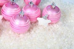 снежок светов рождества шариков предпосылки argb голубой Стоковое Фото