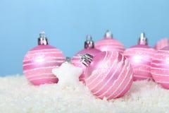 снежок светов рождества шариков предпосылки argb голубой Стоковые Фото