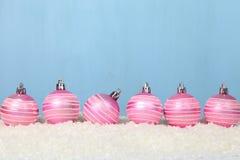 снежок светов рождества шариков предпосылки argb голубой Стоковое Изображение RF