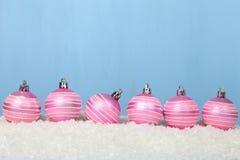 снежок светов рождества шариков предпосылки argb голубой Стоковое Изображение