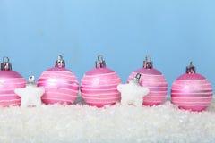 снежок светов рождества шариков предпосылки argb голубой Стоковые Фотографии RF