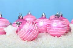 снежок светов рождества шариков предпосылки argb голубой Стоковая Фотография