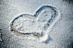 снежок сердца элемента конструкции Стоковая Фотография RF