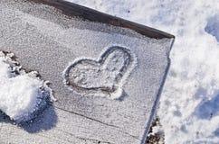 снежок сердца элемента конструкции Стоковое фото RF