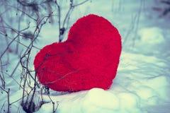 снежок сердца элемента конструкции Стоковые Фото
