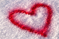 снежок сердца Стоковая Фотография RF