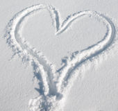 снежок сердца Стоковое фото RF
