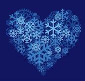 снежок сердца поля глубины отмелый Стоковая Фотография