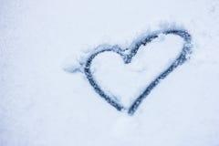 снежок сердца поля глубины отмелый Стоковые Фотографии RF