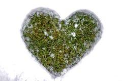 снежок сердца элемента конструкции Стоковое Изображение