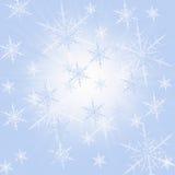 снежок сини предпосылки Стоковая Фотография