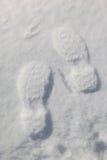 снежок следов ноги предпосылки Стоковые Фотографии RF