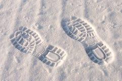 снежок следов ноги Стоковые Изображения
