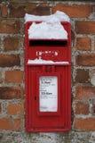 снежок сопроводительного письма коробки Стоковая Фотография
