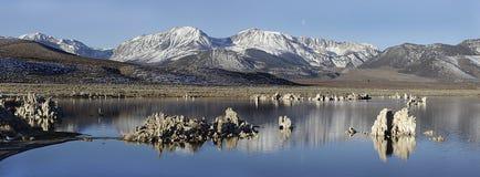 снежок США горы озера california mono Стоковое Фото