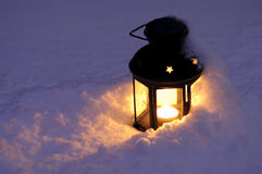 снежок фонарика свечки стоковое изображение