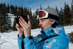 снежок фотографа гор Стоковые Фото