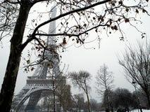 снежок Франции paris вниз Стоковое Изображение