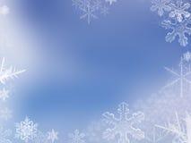 снежок хлопь предпосылки Стоковая Фотография RF
