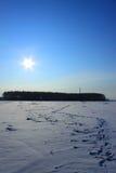 снежок шагов Стоковое Фото